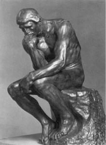 """""""El Pensador"""" de Rodin, tributo al razonar mismo."""